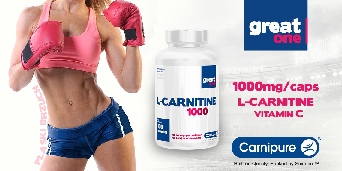 L-Carnitine 1000 100 kapsułek Great One Carnipure