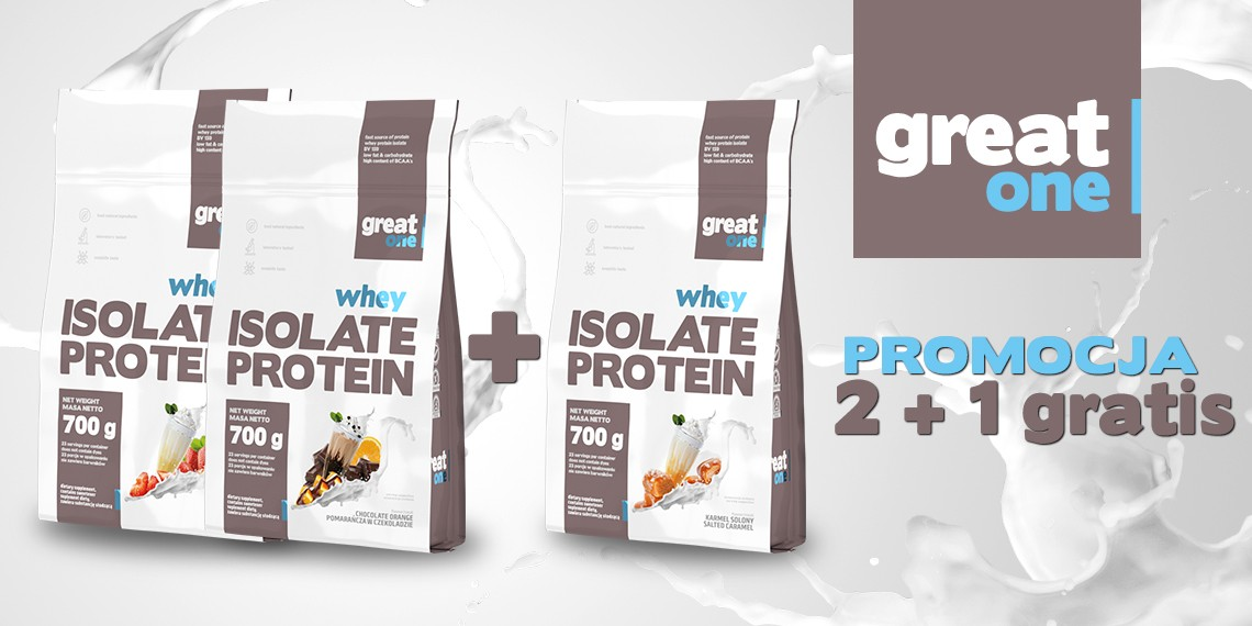 Whey Isolate Protein 700g+700g+700g GRATIS Great One