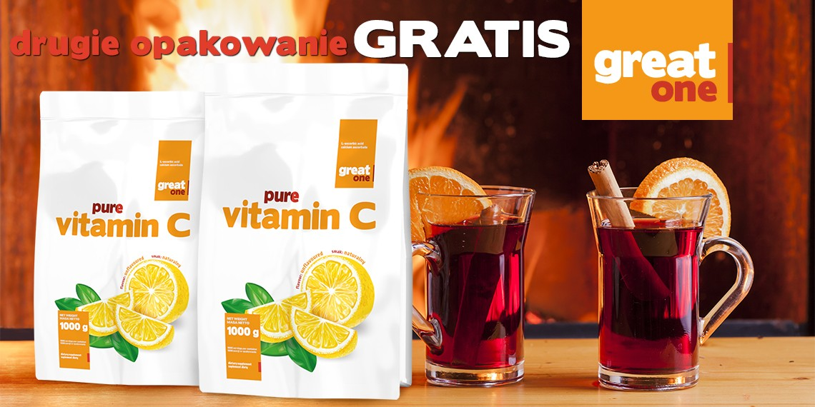 Vitamin C 1kg + 1kg GRATIS Great One
