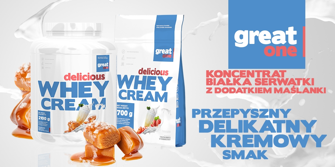 Delicious Whey Cream 2,1kg+700g GRATIS Great One