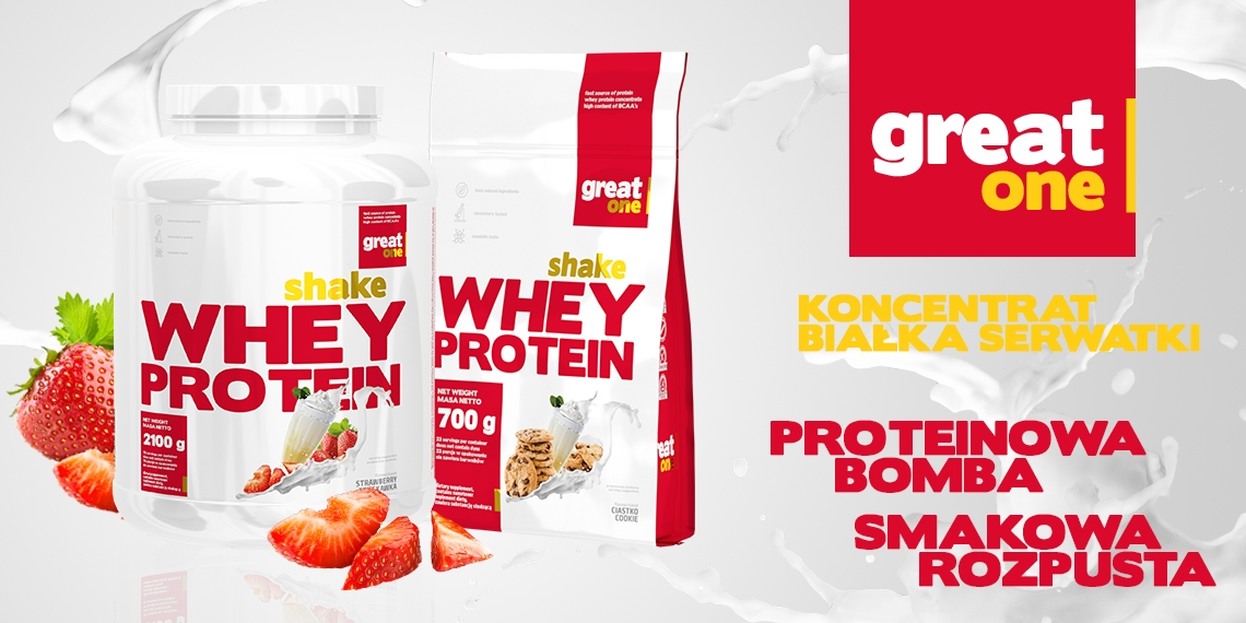 Shake Whey Protein 2,1kg+700g GRATIS Great One