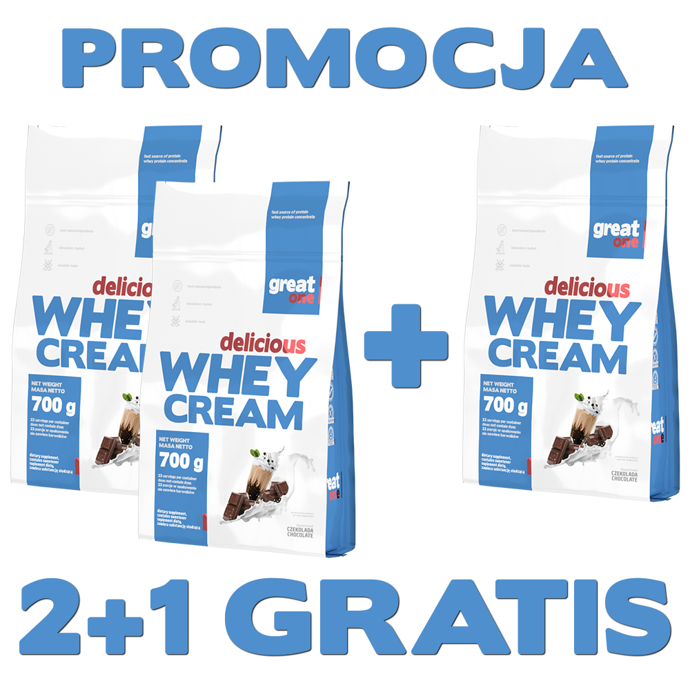 Delicious Whey Cream Great One 2+1 GRATIS