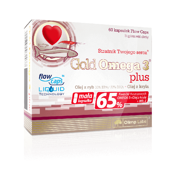 Gold Omega 3 plus 60 kapsułek Olimp