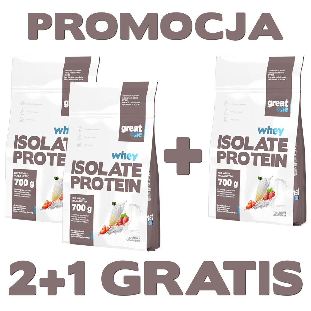Whey Isolate Protein Great One 2+1 GRATIS