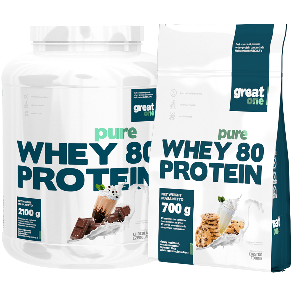 Pure Whey 80 Protein 2,1kg+700g GRATIS Great One