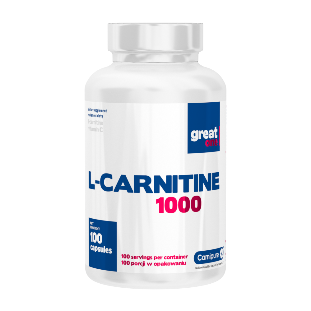 L-Carnitine 1000 100 kapsułek Great One