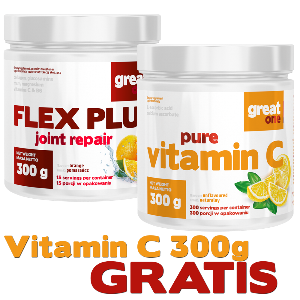 Flex Plus Joint Repair 300g Great One + Pure Vitamin C 300g Great One GRATIS