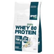 Pure Whey 80 Protein 900g (700g+200g GRATIS) Great One - białko WPC